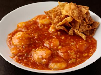 辛さの中にも甘みをしっかりと感じられる『海老のチリソース煮』
