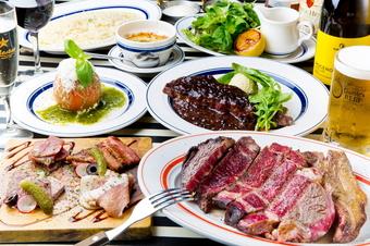 希少部位ステーキ&ゴッチーズビーフオリジナルステーキを堪能できる贅沢コース。
