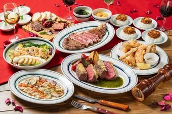 ハーブパネステーキや、一番人気のリブアイロールステーキを贅沢に味わえる期間限定プレミアムコース