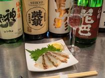 日本酒との相性を計算されたおつまみが充実