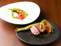 素材の美味しさを味わう『本日の鮮魚の一品or本日のお肉料理』