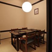 いろいろなシチュエーションで使える個室を完備
