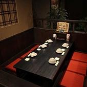 さまざまなシーンで使える個室まであり。