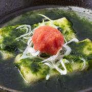 磯の香り際立つ、体が温まる豆腐料理です。