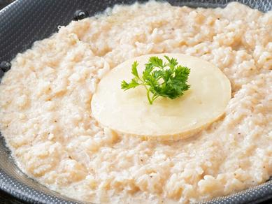 焼きカマンベールのWチーズリゾット ~トリュフ風味~