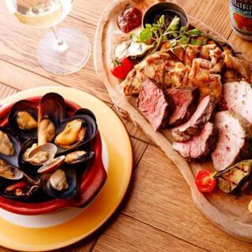 人気メニューが勢ぞろい!幻の豚東京Xと大山鶏の肉盛り2種コース