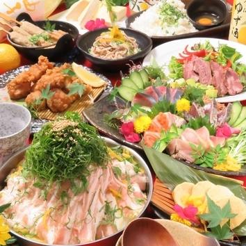 <小町コース>飲放付◆長浜市場直送鮮魚・選べる鍋等[11品]