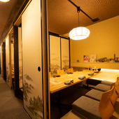 最大45名までの宴会に使える、広い個室も完備