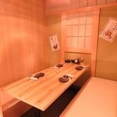 シチュエーションに合わせて使える、さまざまなタイプの個室