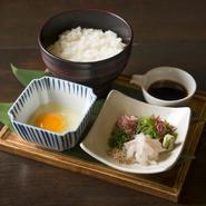 愛媛県宇和島市の郷土料理を三船流にアレンジ。ちょっと豪華な卵かけご飯です。