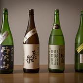 食中酒として楽しめる約30種の日本酒をセレクト