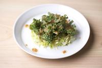 怒涛の30貫の合間、酢に慣れた舌をリセットしてもらうために、野菜の小鉢が登場します。