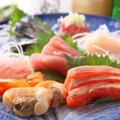 木更津はじめ千葉の旬の魚介を厳選した『お刺身の盛り合わせ』