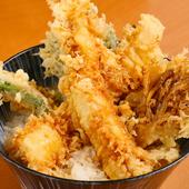 3種類から選べるサクサクでボリューミーな天ぷら! 『天丼定食』