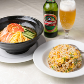 『冷麺炒飯セット』
