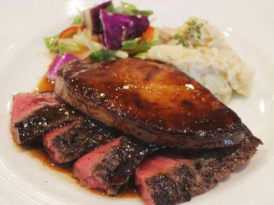 黒毛和牛イチボのステーキ<オススメ>