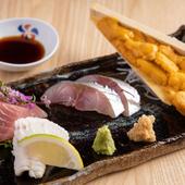 極上本マグロなど選び抜かれた魚介類を満喫『お造り盛り合わせ』