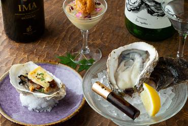 牡蠣が魅せる多彩な表情『生牡蠣』『ブラマンジェ』『牡蠣のグリル』
