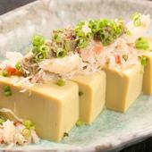 「かにづくし」の、とっても贅沢な味わい『かにみそ豆腐のかに身和え』