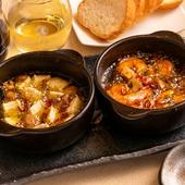 ワインにぴったり『カマンベールチーズのアヒージョ/海老のアヒージョ』