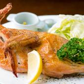 鶏のおいしさをたっぷり味わえる『国産若鶏半身焼』