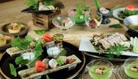 旬の食材を料理の中に散りばめた、一口ごとに季節の恵みをいただく『季節会席』