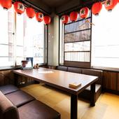 4~6名向けの個室は、少人数グループでの飲み会にぴったり