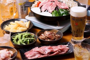ラム肉初心者にもオススメ、定番の味がお得に楽しめる『定番ジンギスカン食べ放題+120分飲み放題』