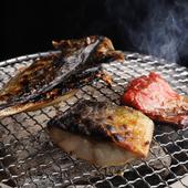 海鮮メインの炭火焼『炙り盛合せ 5種』