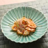 モチッとした食感と滋味豊かな味を楽しめる『イクラと徳島野菜のオレキエッテ』
