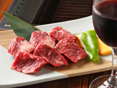 名物! 赤身が多く柔らかで、食べやすいと人気の『ハラミ』
