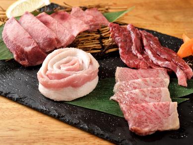 黒毛和牛を満喫できる華やかな一皿『お肉の盛り合わせ』