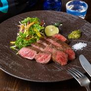 上質な肉を味わう『山口県産黒毛和牛炭火焼』