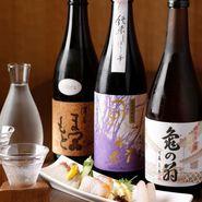 オーナーソムリエである山口氏が厳選した『日本酒』は常時80種以上をラインナップ。人気銘柄から希少銘柄まで、日本酒好きはきっと満足できる品ぞろえが魅力です。