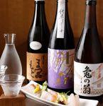 日本酒は常時80種以上をラインナップ。オーナーソムリエ山口氏厳選の『日本酒』