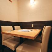 接待や会食などのビジネスシーンにオススメ。ワンランク上の空間