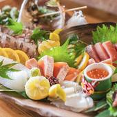 鮮度抜群の魚介類を満喫できる『お造り盛合わせ』