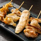 バラエティ豊かな串焼きが楽しめる『串盛り合わせ』