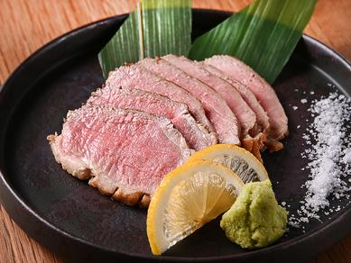 和風だしとワサビの風味が、鴨肉の美味しさを引き出す『京鴨のロースト』