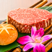 一見して厚切りのステーキ? 最適な温度調節遠赤効果で芯まで焼き上げる『特選ヒレの厚切り』(150g)