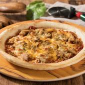 たけのことひき肉のピッツァ