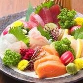 その日に仕入れた鮮魚による『味土心盛り(お造り盛り合わせ)』
