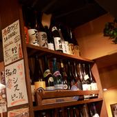 焼酎、日本酒、サワーも充実。ハイボールはメガサイズも可能