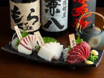全国の地酒と四季で入れ替えられる日本酒が総計10種