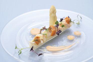 ホワイトアスパラガス 毛蟹
