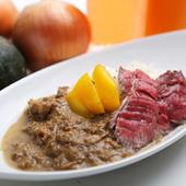 シュラスコ肉を使ったカレー