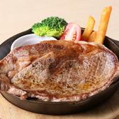 牛リブロースステーキ スキレット