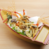 旬の魚介と野菜の天ぷら