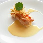 旬の魚介類を洗練された技法で楽しむ『金目鯛のソテー』