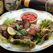 料理のコンセプトは、「ビールがおいしいメキシカン」